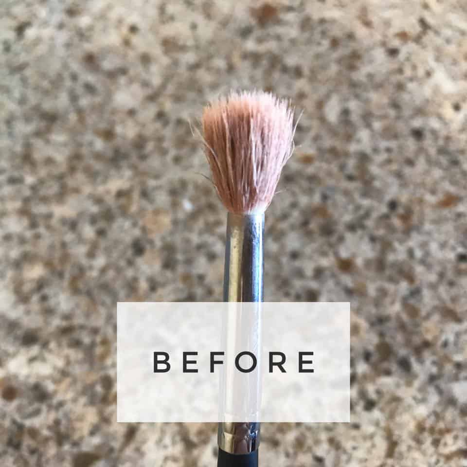 Before Cleaning Your Brush